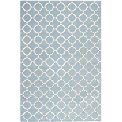 Safavieh Chatham CHT717B Blue/Ivory Wool Rug