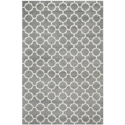Safavieh Chatham CHT717D Dark Grey/Ivory Wool Rug