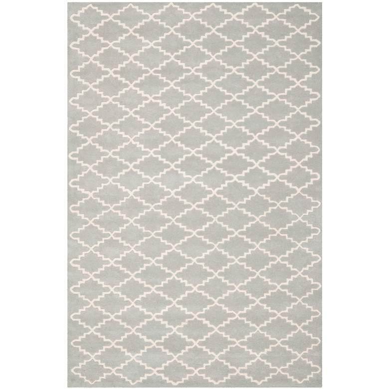 Safavieh Chatham CHT721E 5'x8' Grey/Ivory Wool Rug