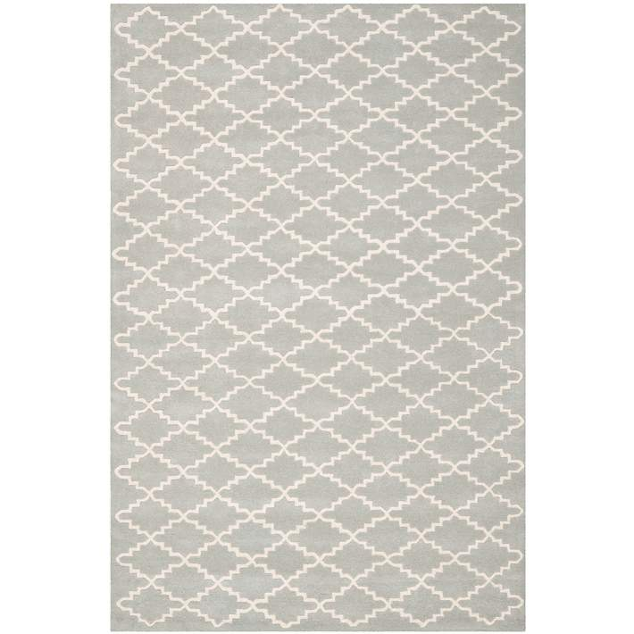 Safavieh Chatham Cht721e Grey Ivory Wool Rug 5h716 Lamps Plus