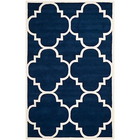 Safavieh Chatham CHT730C Dark Blue/Ivory Wool Rug