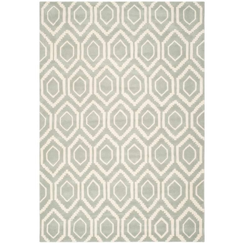 Safavieh Chatham CHT731E 5'x8' Grey/Ivory Wool Rug