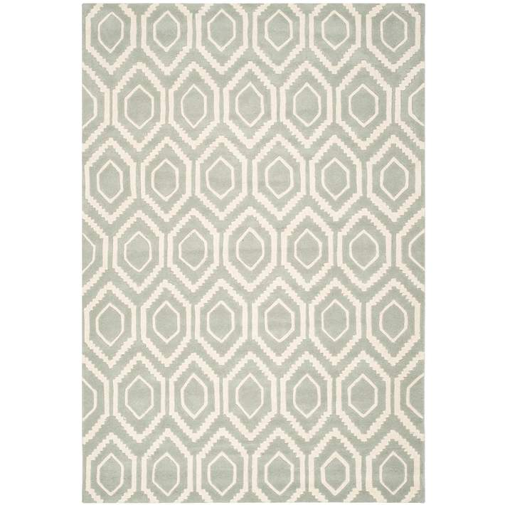 Safavieh Chatham Cht731e Grey Ivory Wool Rug 5h760 Lamps Plus