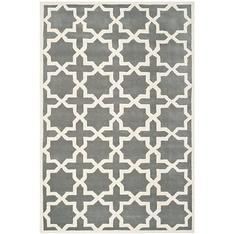 Safavieh Chatham CHT732D Dark Grey/Ivory Wool Rug