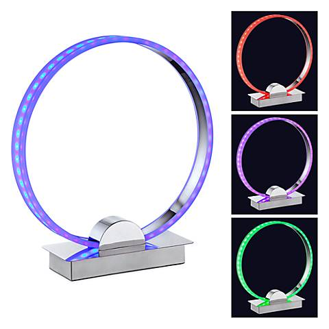 "Aurelio 13""H LED Color Changing Circle Ring Accent Lamp"