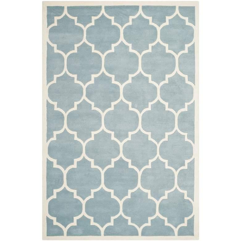 Safavieh Chatham CHT733B 5'x8' Blue/Ivory Wool Rug