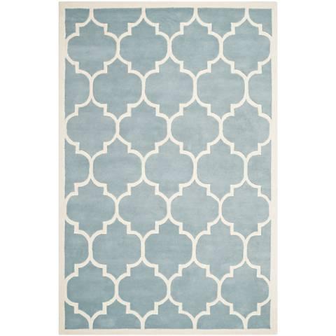 Safavieh Chatham CHT733B Blue/Ivory Wool Rug