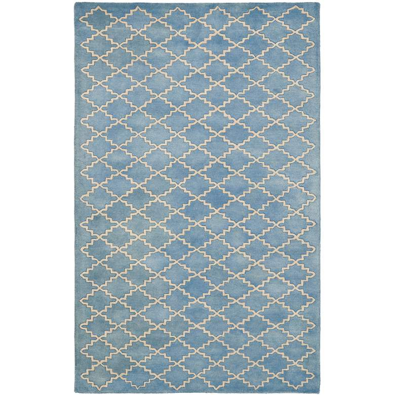 Safavieh Chatham CHT930A 5'x8' Blue/Grey Wool Rug