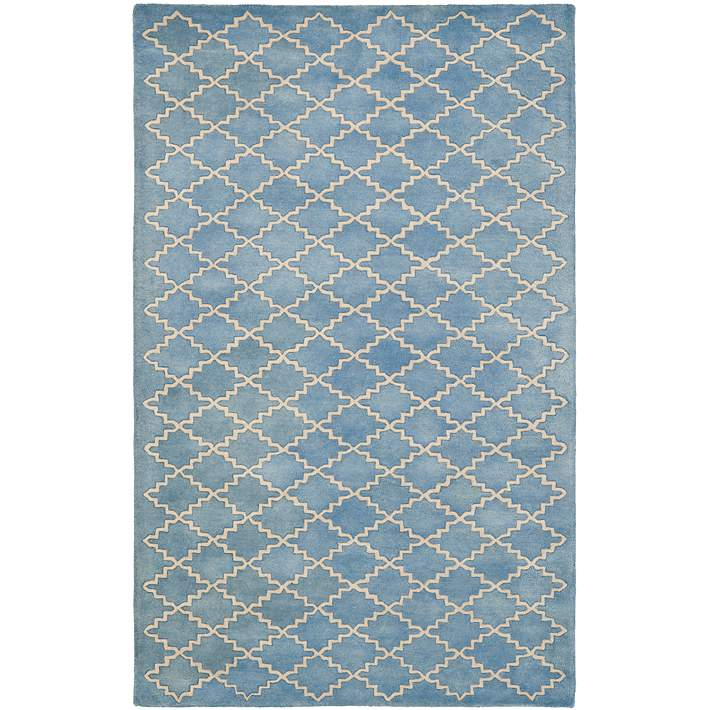 Safavieh Chatham Cht930a Blue Grey Wool Rug 5h799 Lamps Plus