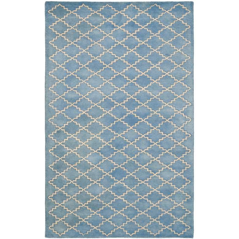Safavieh Chatham CHT930A 5'x8' Blue/Grey Wool Rug