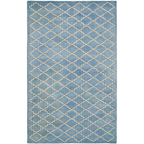 Safavieh Chatham CHT930A Blue/Grey Wool Rug