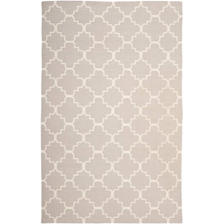 Safavieh Dhurrie DHU554G 5'x8' Grey/Ivory Wool Rug