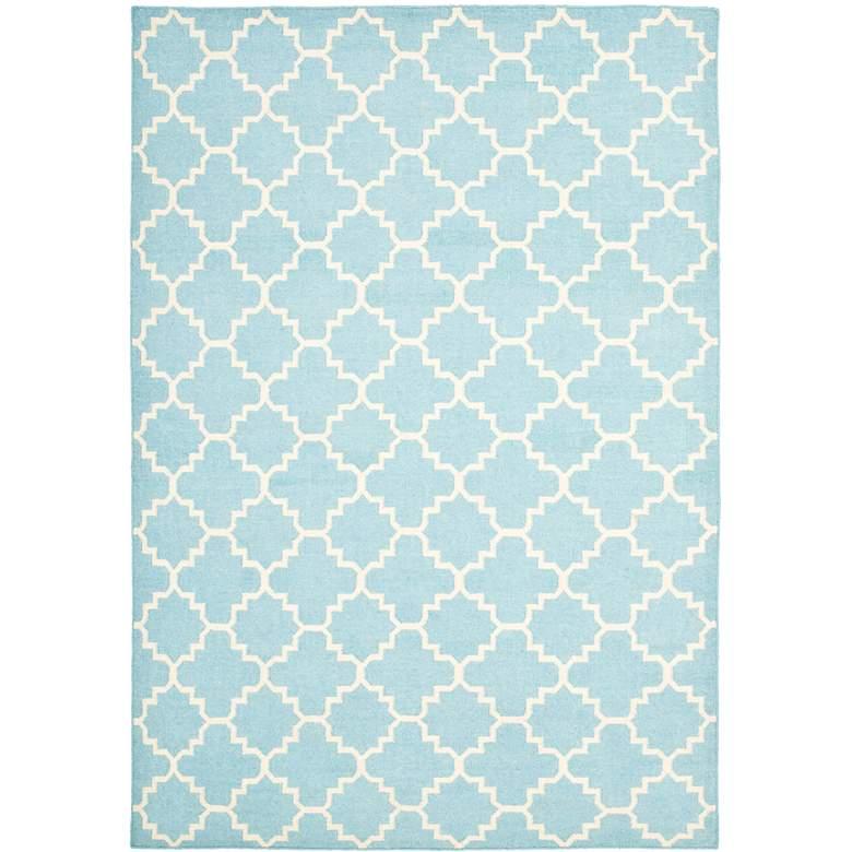 Safavieh Dhurrie DHU554B 5'x8' Light Blue/Ivory Wool Rug