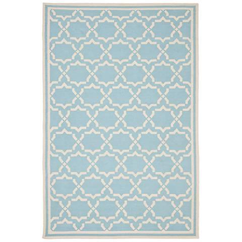Safavieh Dhurrie DHU545B Light Blue/Ivory Wool Rug