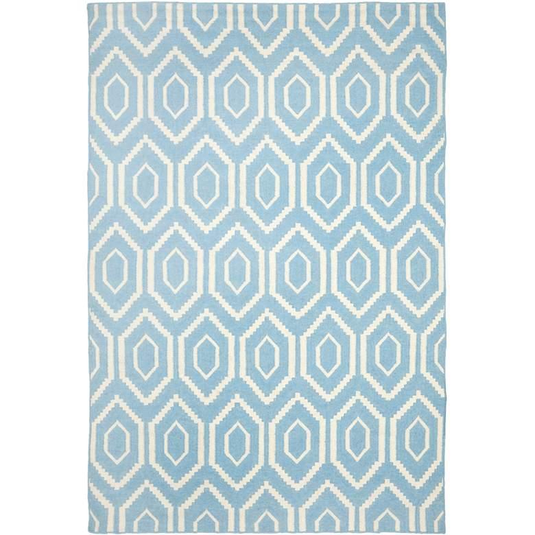 Safavieh Dhurrie DHU556B 5'x8' Blue/Ivory Wool Rug