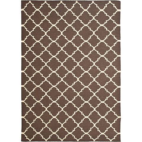 Safavieh Dhurrie DHU554C Brown/Ivory Wool Rug