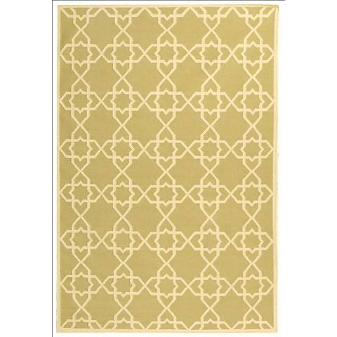 Safavieh Dhurrie DHU548A Olive/Ivory Wool Rug