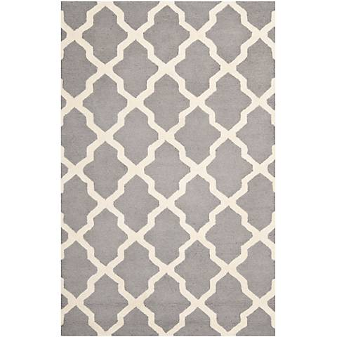 Safavieh Cambridge CAM121D Silver/Ivory Wool Rug