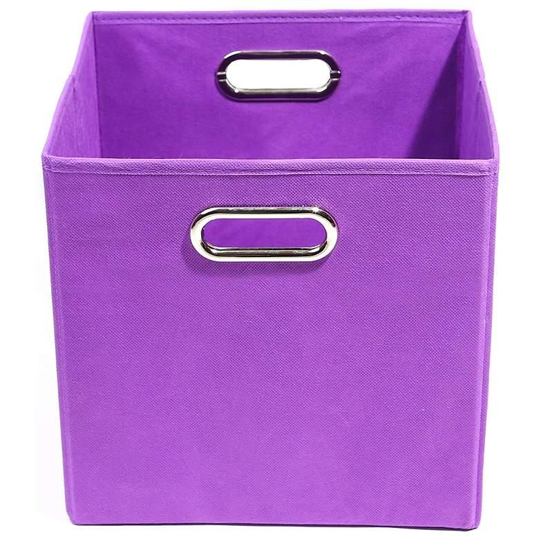 Color Pop Solid Purple Folding Storage Bin