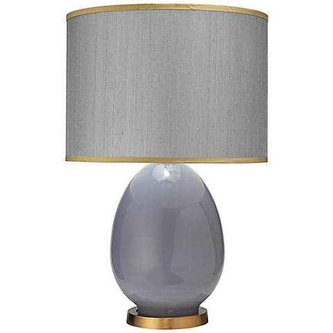 Jamie Young Dove Gray Large Egg Table Lamp