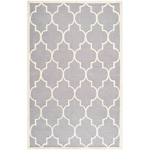 Safavieh Cambridge CAM134D Silver/Ivory Wool Rug
