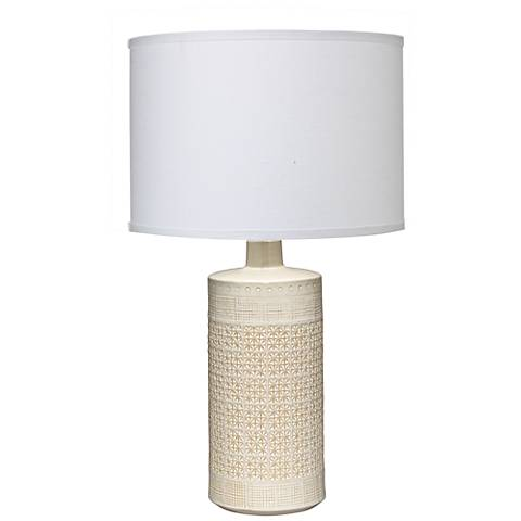 Jamie Young Astral White Ceramic Table Lamp