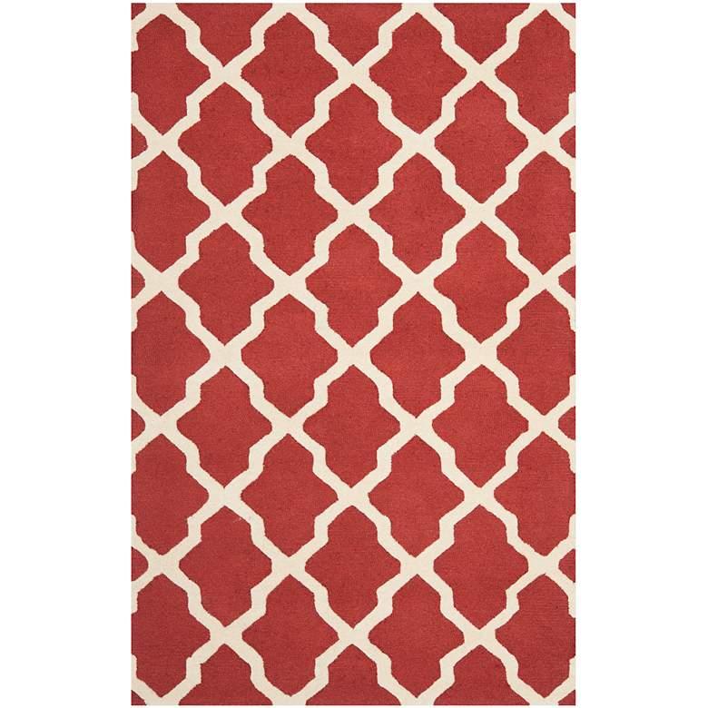 Safavieh Cambridge CAM121L 5'x8' Rust/Ivory Wool Rug