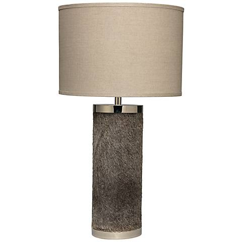 Jamie Young Column Gray Hide Table Lamp