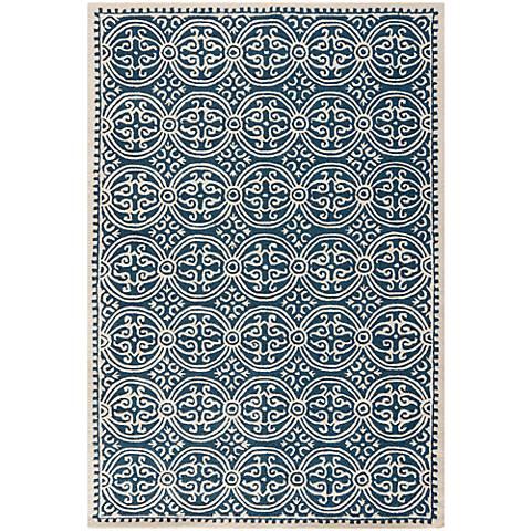 Safavieh Cambridge CAM123G Navy Blue/Ivory Wool Rug