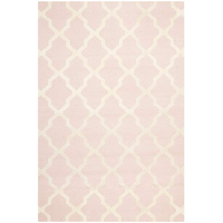 Safavieh Cambridge CAM121M 5'x8' Light Pink/Ivory Wool Rug