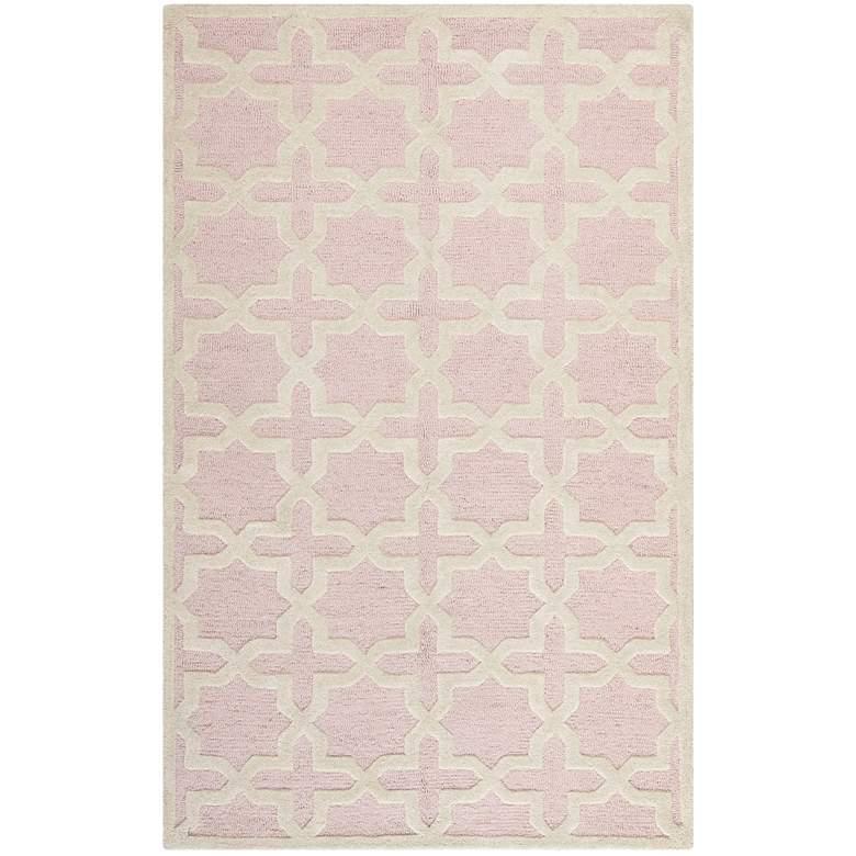 Safavieh Cambridge CAM125M 5'x8' Light Pink/Ivory Wool Rug