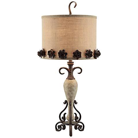 Crestview Collection Secret Garden Bloom Iron Table Lamp