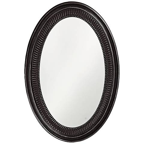 "Howard Elliott Ethan 21"" x31"" Black Wall Mirror"