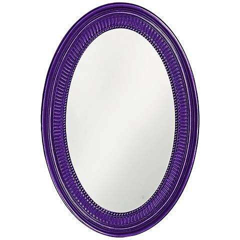 "Howard Elliott Ethan 21"" x31"" Royal Purple Wall Mirror"
