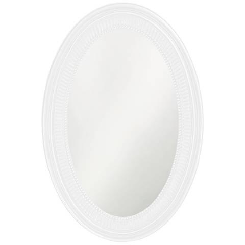 "Howard Elliott Ethan 21"" x31"" White Wall Mirror"