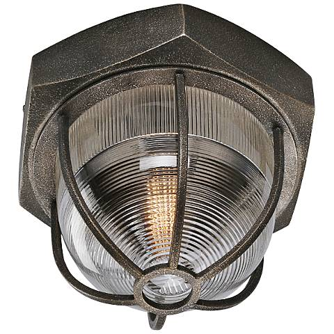 """Acme 12 1/2"""" Wide Aged Silver Ceiling Light"""