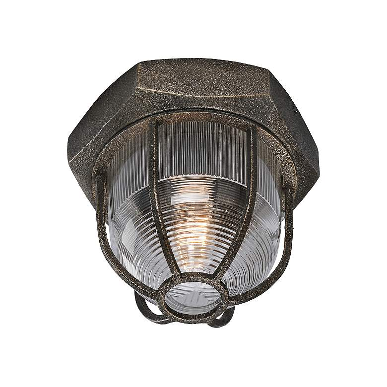 """Acme 8 1/2"""" Wide Aged Silver Ceiling Light"""