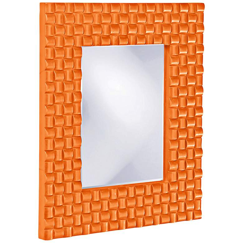 "Howard Elliott Justin 22"" x 26"" Orange Wall Mirror"