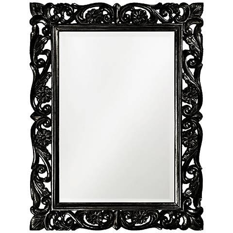"""Howard Elliott Chateau Black 31 1/2"""" x 42"""" Wall Mirror"""