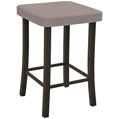 "Amisco Ryan Stratus 24"" Cobrizo Counter Stool"