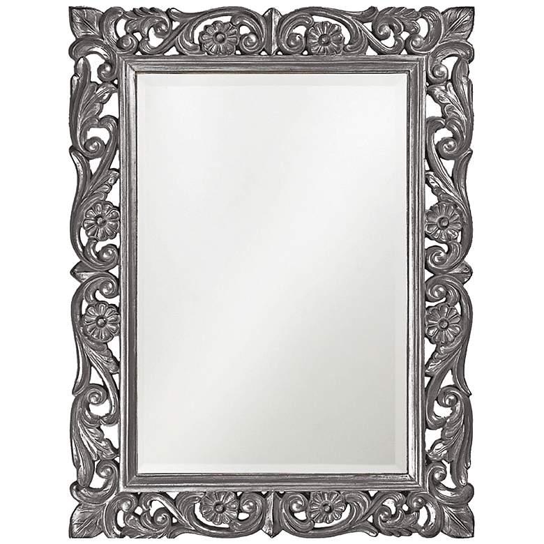 """Howard Elliott Chateau Gray 31 1/2"""" x 42"""" Wall Mirror"""