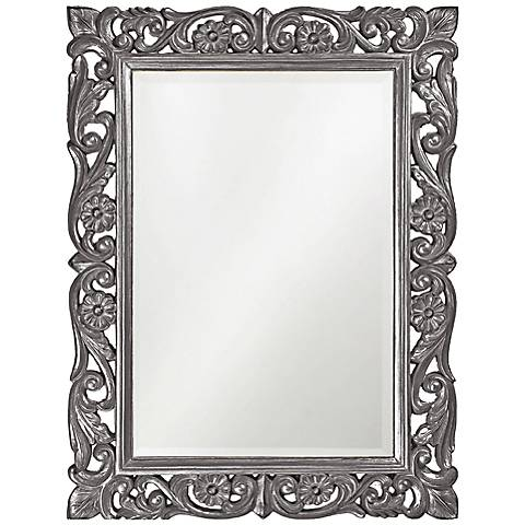 "Howard Elliott Chateau Gray 31 1/2"" x 42"" Wall Mirror"
