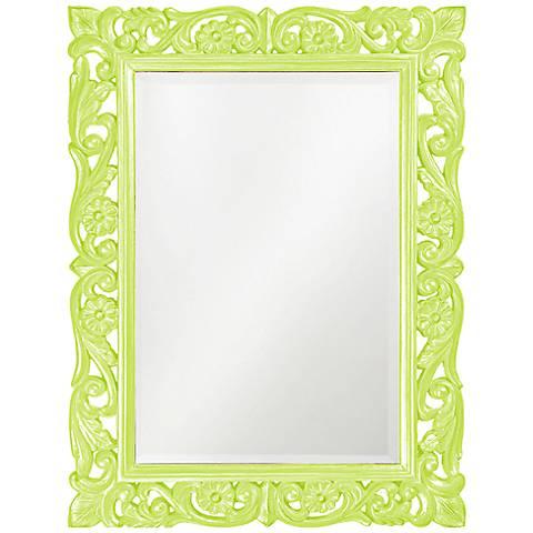 """Howard Elliott Chateau Green 31 1/2"""" x 42"""" Wall Mirror"""