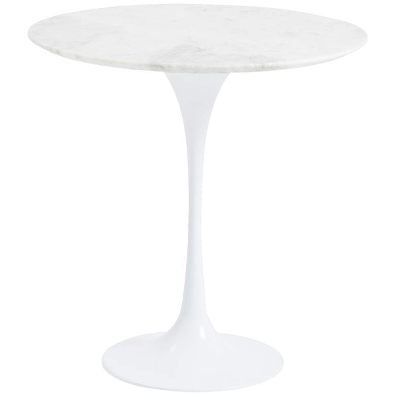 Astrid White Marble Side Table