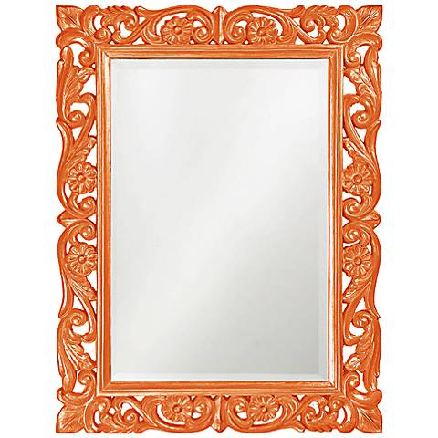 "Howard Elliott Chateau Orange 31 1/2"" x 42"" Wall Mirror"