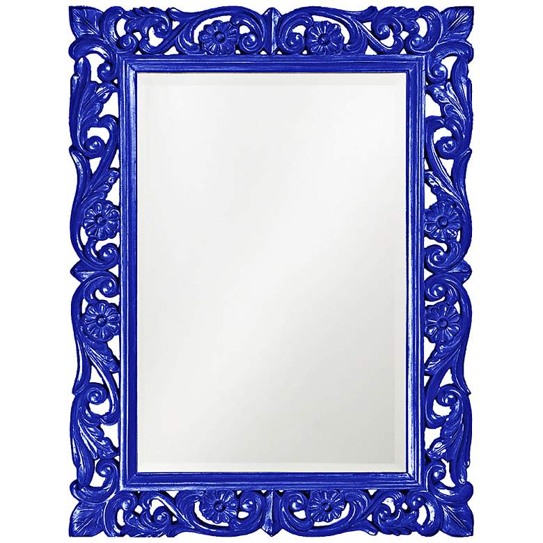 """Howard Elliott Chateau Royal Blue 31 1/2"""" x 42"""" Wall Mirror"""