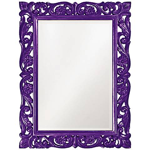 "Howard Elliott Chateau Purple 31 1/2"" x 42"" Wall Mirror"