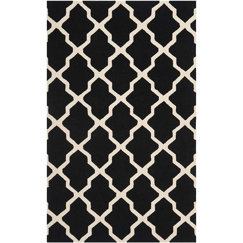 Safavieh Cambridge CAM121E 5'x8' Black/Ivory Wool Rug