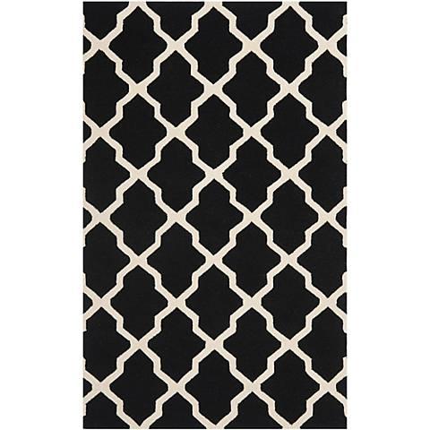 Safavieh Cambridge CAM121E Black/Ivory Wool Rug
