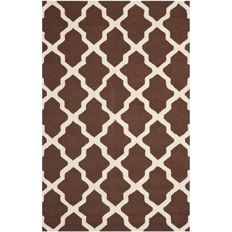 Safavieh Cambridge CAM121H 5'x8' Brown/Ivory Wool Rug